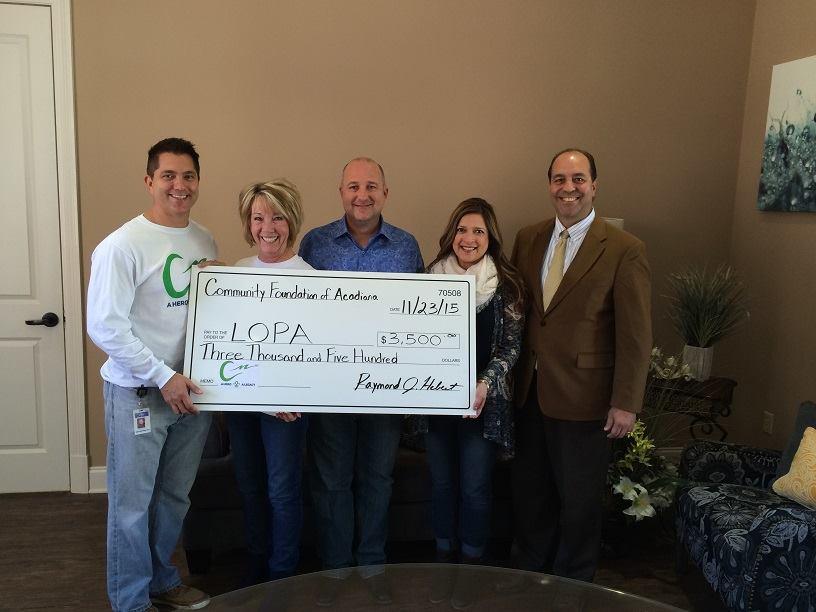 Christian's Legacy donates to LOPA