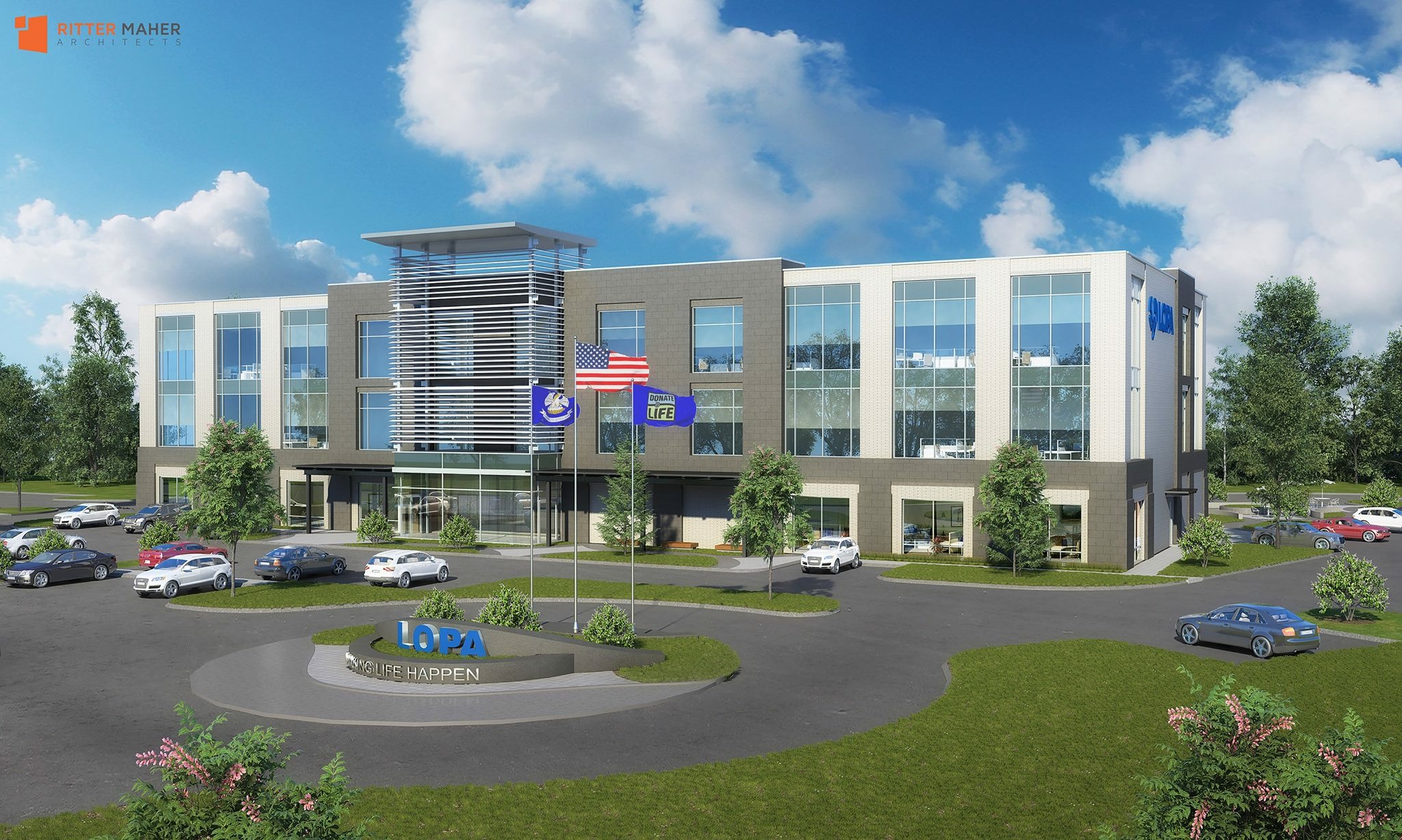 Front of building, Architect Rendering