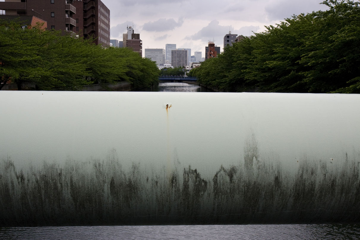 JAPAN. Tokyo . May 2008. Pipe and Landscape - 16x12inches £600 - Edition of 6 + 2AP's - 20x24inches £1000 - Edition of 4 + 2AP's