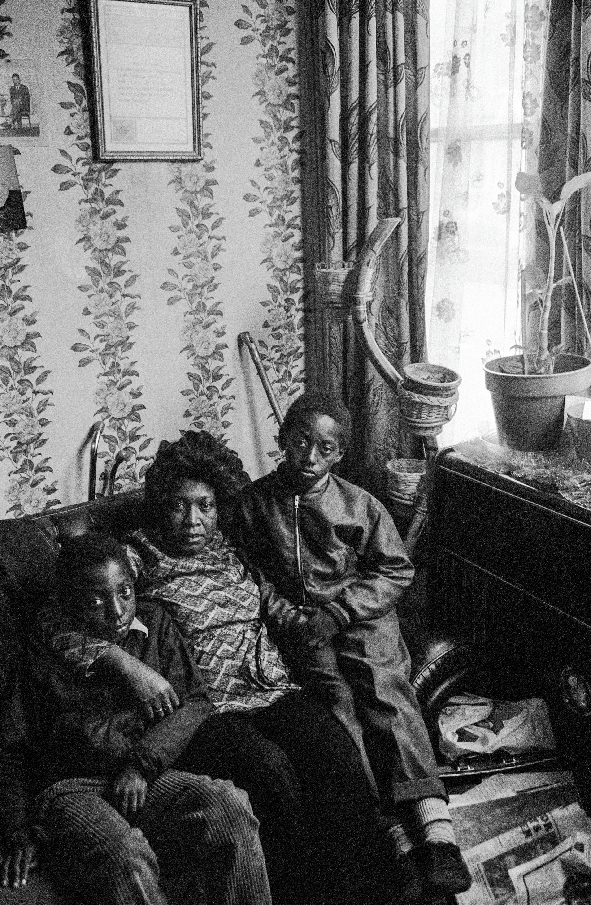 Family in Brixton, 1973