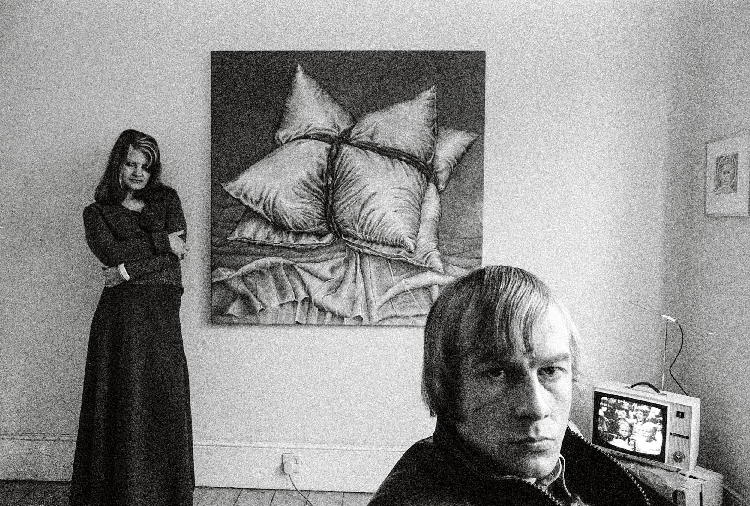 Val and John, artists, Brixton, 1974