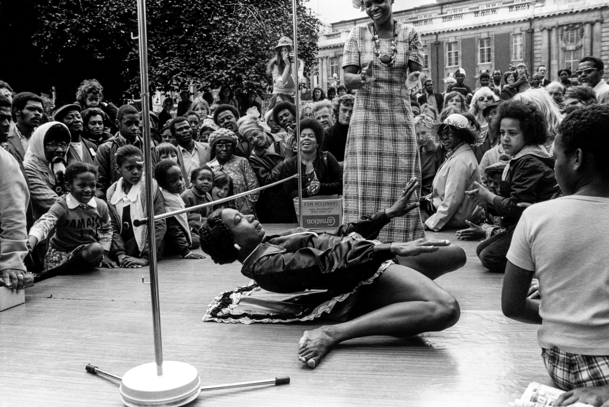 Limbo competition at Brixton festival, 1974