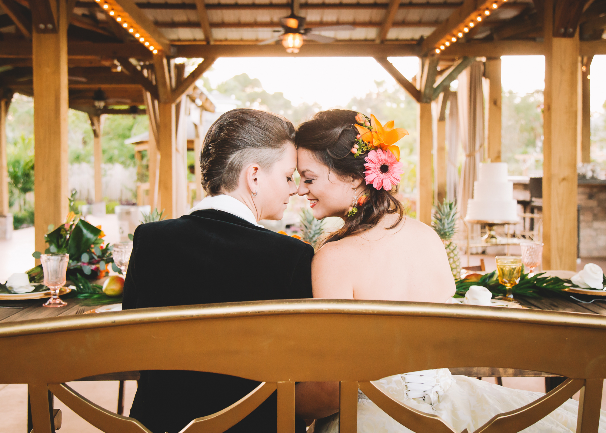 "Amanda + Bean // Rockledge Gardens  Published in ""Dancing with Her"" and ""Orange Blossom Bride"""
