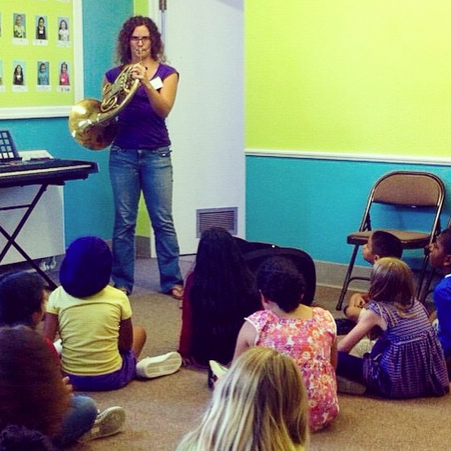 Dr. Hockenberry performs for her students at North Limestone MusicWorks in Lexington, KY, in 2013.