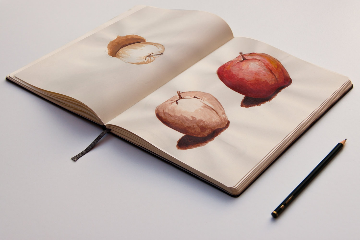 Apple Study    Materials  Acrylic and graphite.   Year  2013