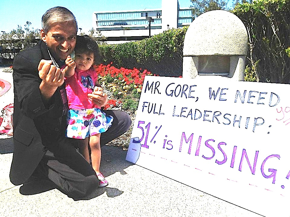 Photo by Marilyn Cornelius, taken at the Op ML protest outside Al Gore's Climate Reality Leadership training in San Francisco, Nov 2012.