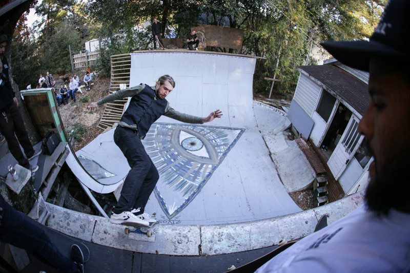 Back on top, Marky gaps one to lipslide.