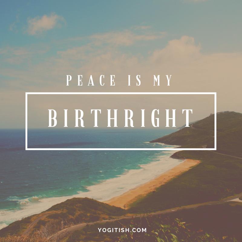 peaceismybirthright