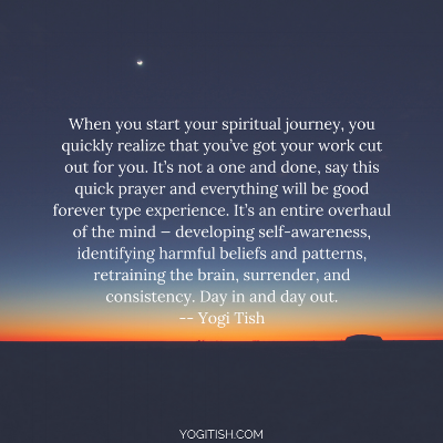 when you start your spiritual journey