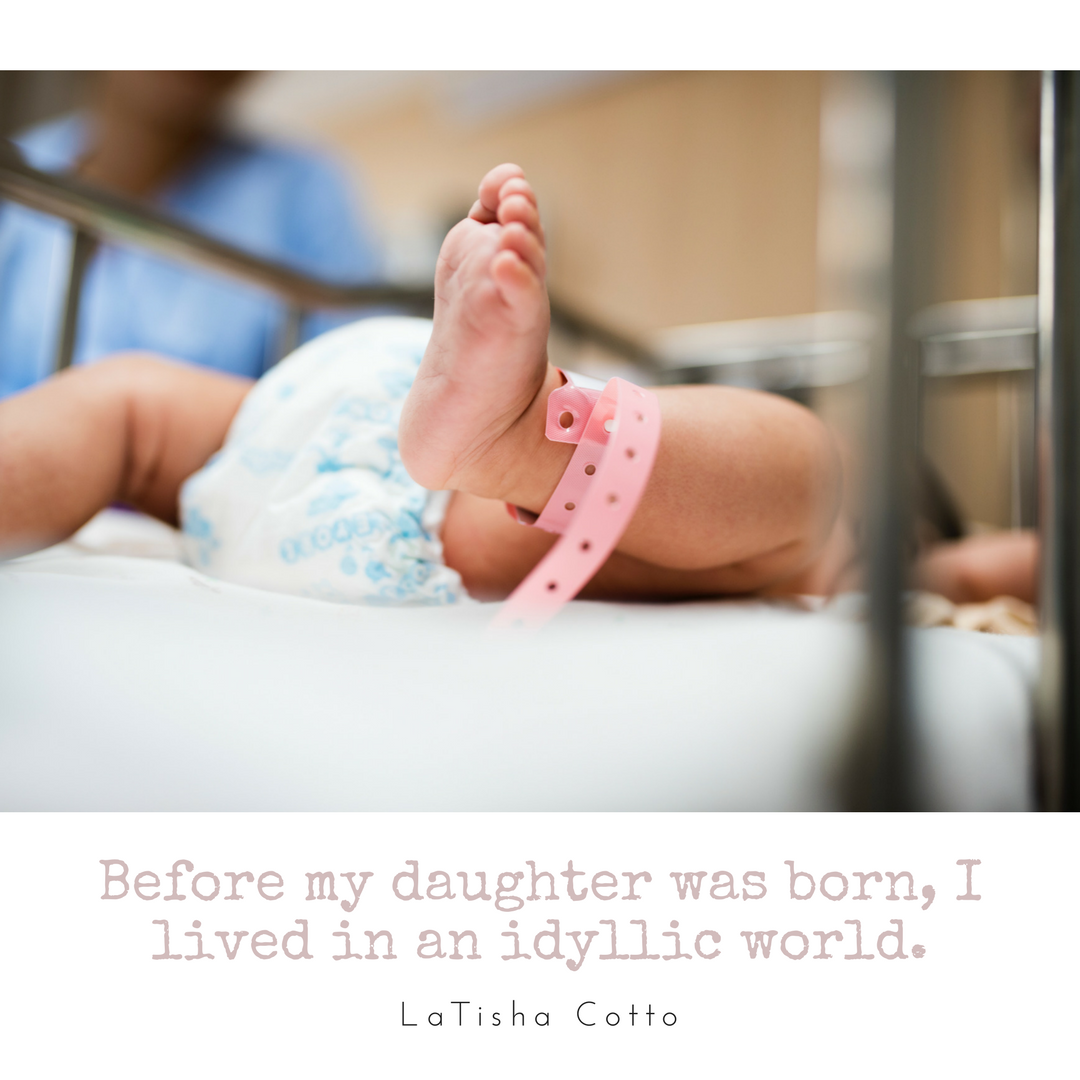 Before my daughter was born, I lived in an idyllic world.  I was aware of danger and, at the same time, I existed in a safe little bubble wherever I went. I was unafraid to venture off into the unknown. Bold. Daring. Brave. Ready to take on the world. That was me.