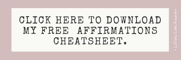 affirmations cheatsheet