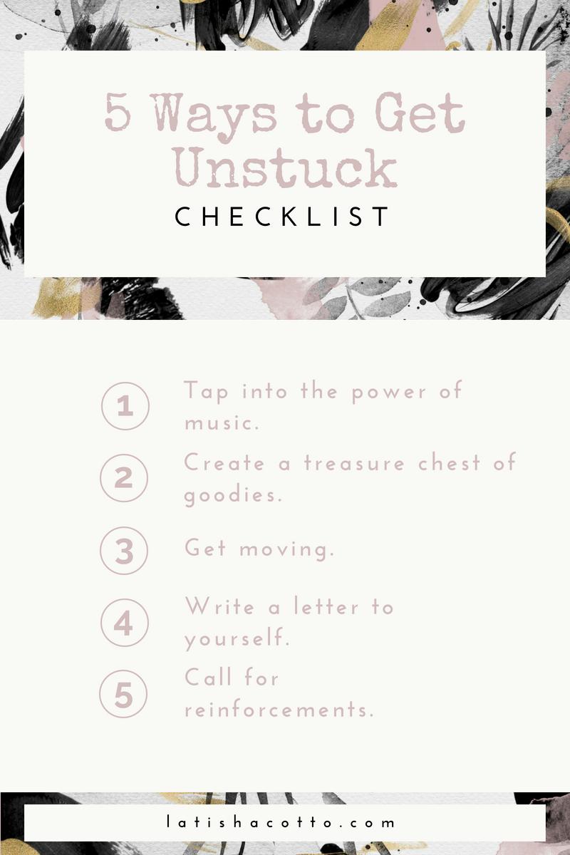 5 ways to get unstuck checklist