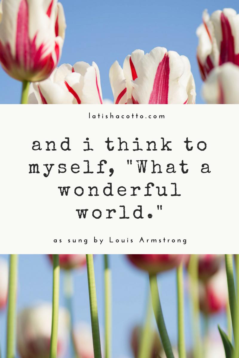 What A Wonderful World Lyric