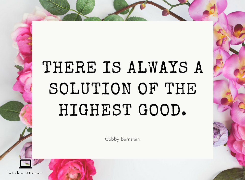 Solution of the Highest Good Quote
