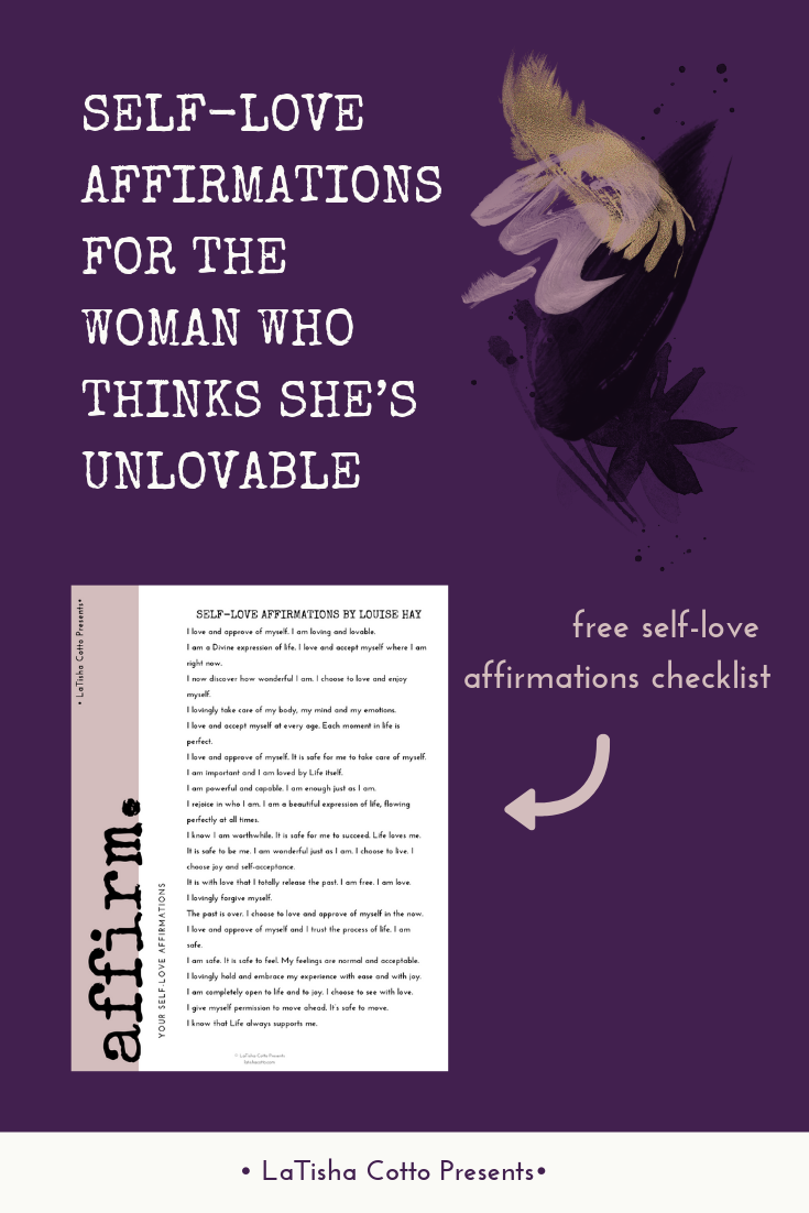 "Download your free ""Self-Love Affirmations by Louise Hay"" checklist."