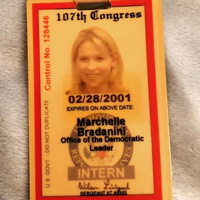 🇺🇸🇺🇸 vote!! 🇺🇸🇺🇸 found my congressional badge from back in the day interning for then democratic minority leader, Dick Gephardt, during the Bush W years. I left politics to play in a band and days like this make me wish I would have stayed and fought the good fight. I still believe there are more good than bad people but we can't do anything if we don't vote. Text your friends and family in swing states!!