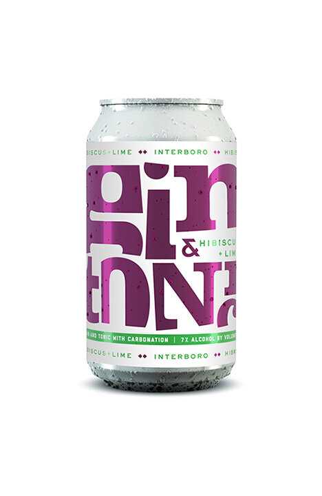 Hibiscus & Lime G&T - 12 oz. cans / 7% ABVEffervescent and bright pink with just enough bite from our Goodwin Hill Gin, this balanced canned cocktail has both the floral sweetness of lime and hibiscus. Its dry finish leaves you thirsty for another sip, whether on the beach or in the mountains- this flavorful G&T is perfect wherever you find yourself.