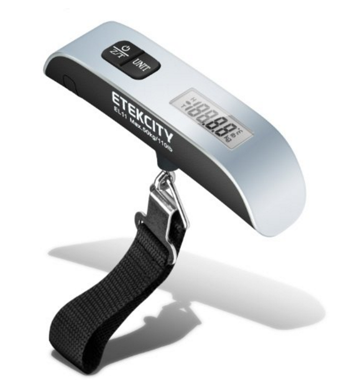Hanging luggage scale:  Baggage overage fees are real