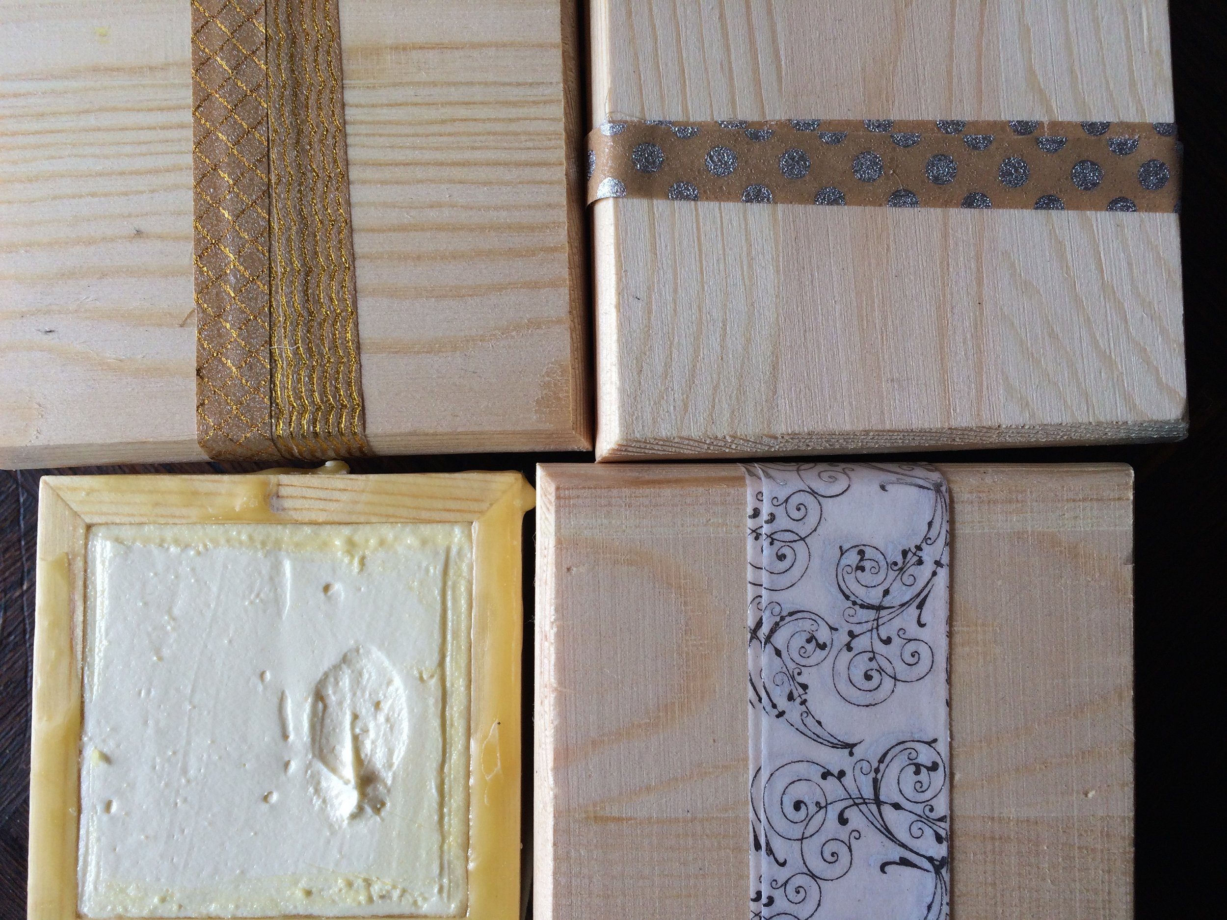 RAW HONEY SKIN BALM in wooden boxes lined in beeswax