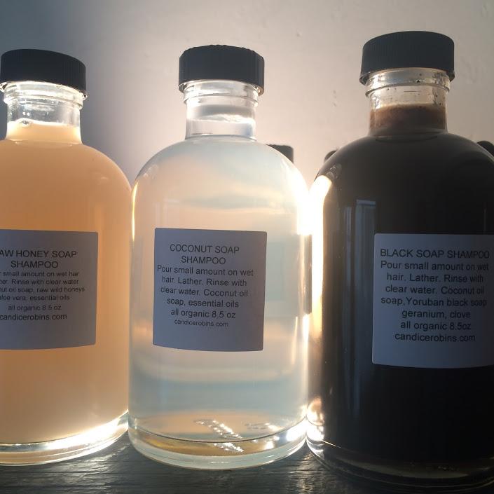 Raw Honey Soap Shampoo, Coconut Soap Shampoo, Black Soap Shampoo