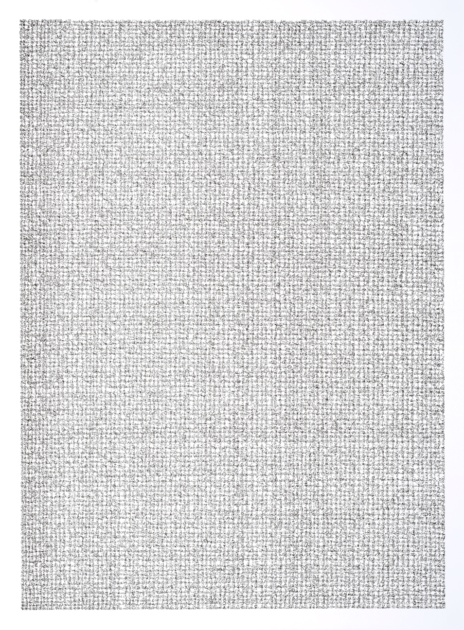 "chpt. 5: too many words are exhausting, 2014 | ink on paper | 30"" x 22"" 