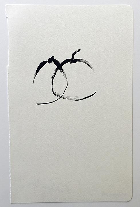 "ensō | apple (13), 2015 | ink on paper | 8.25"" x 5.25"""