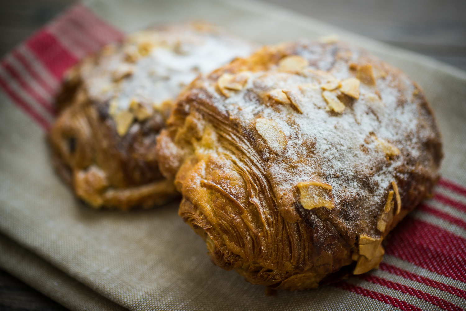 Our amazingly flaky chocolate croissant requires 3 days of preparation until it's ready to be enjoyed - it's loaded with buttery texture and wonderful french chocolate!