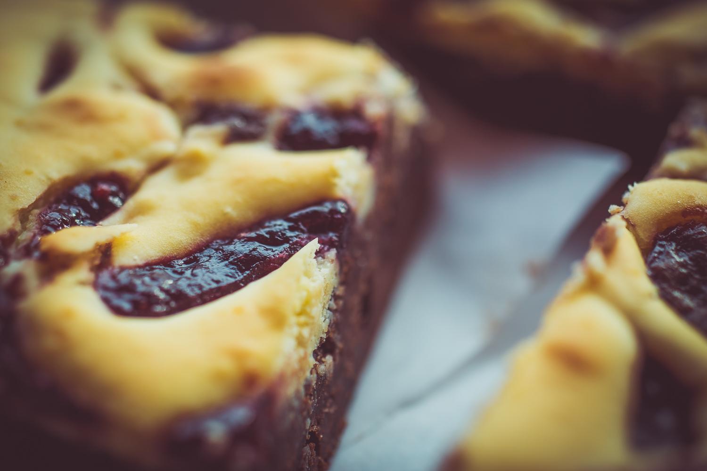 Raspberry Creme Cheese Brownie