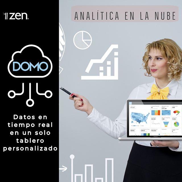 Nos enorgullece compartir que ya se encuentra disponible DOMO, la plataforma Cloud Analytics para toda la región a través de Zen 👏💪 #domo #businessintelligence #cloudanalitycs