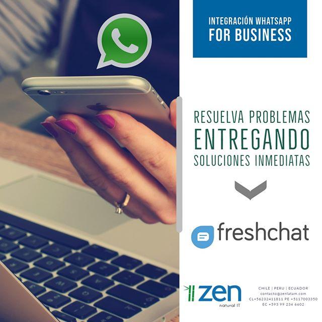 ¡Utiliza WhatsApp para servicio al cliente con #Freshchat! 👥🤳