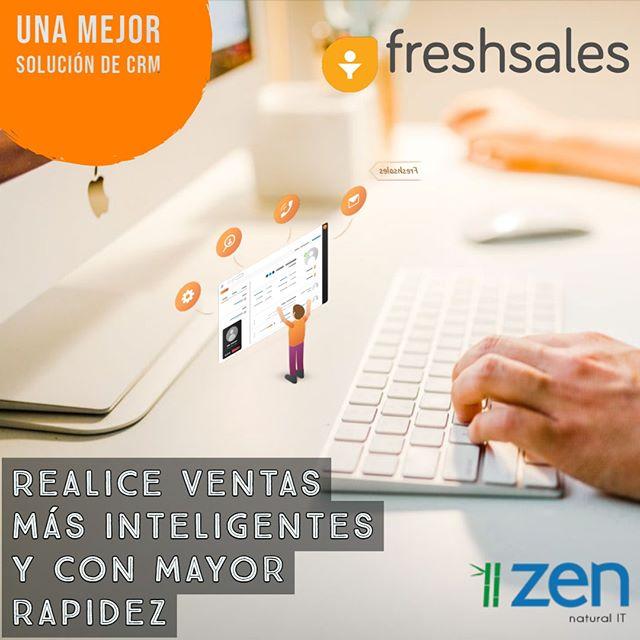 Gestiona con más agilidad y  productividad tus ventas con #Freshsales. Un software sencillo que funciona a la perfección, sin complicaciones, sin problemas 👌.