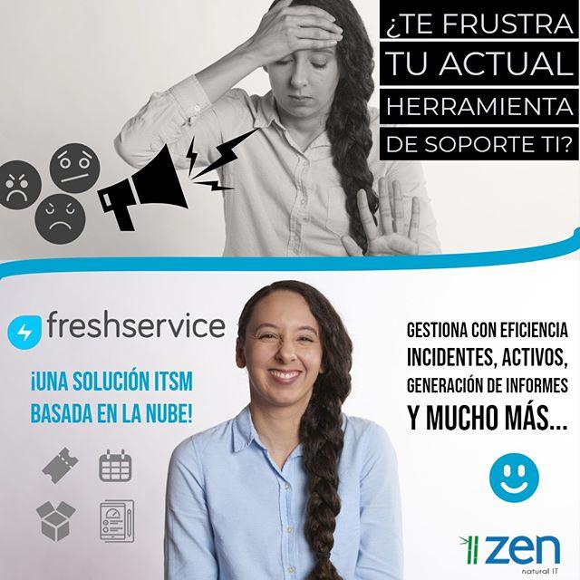 ¡Entrega el mejor servicio TI con #Freshservice!, la solución N°1 en Mesa de ayuda de TI en la nube, aquí en #zen 👍