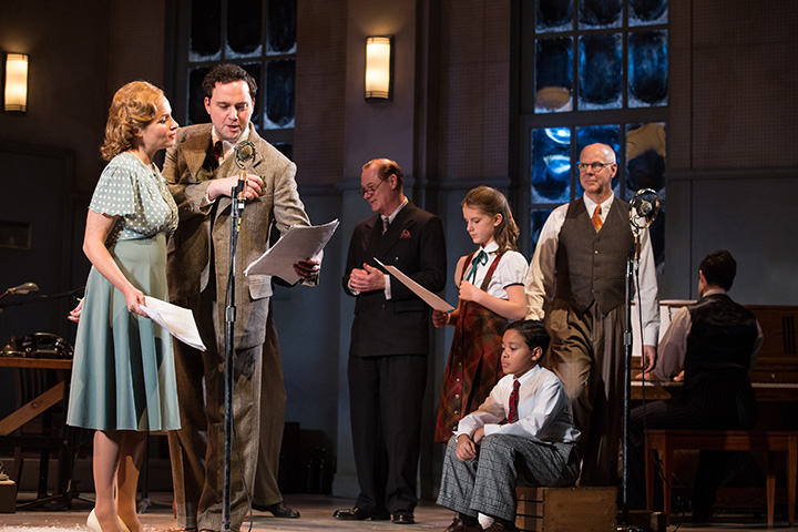 It's A Wonderful Life  at Soulpepper Theatre (2016). Raquel Duffy, Gregory Prest, Derek Boyes, Thea Lapham, Richie Lawrence, Oliver Dennis, James Smith. Photo by Cylla von Tiedemann