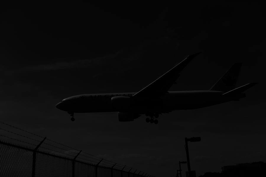 The Laird Co Air Canada 777 black and white side view aviation airport airline photography for site.jpg