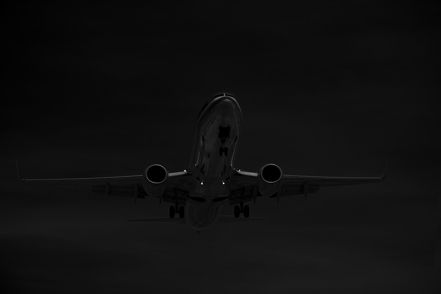 The Laird Co American Airlines B737 Old Livery Reflections black and white aviation avgeek airplane airline photography for site.jpg