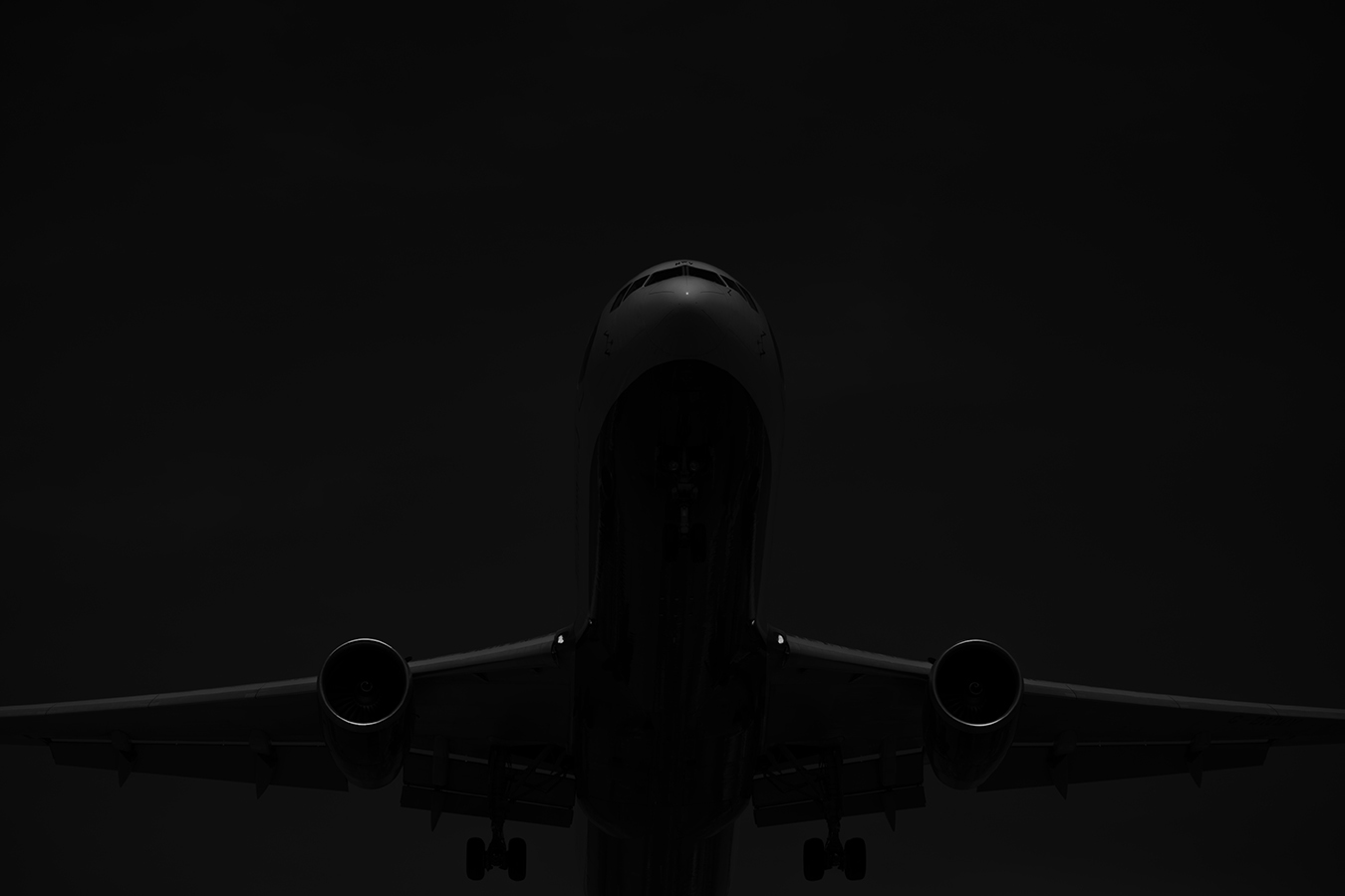 The Laird Co BRitish Airways Boeing 767 black and white minimal aviation avgeek airplaine airline photography for site.jpg