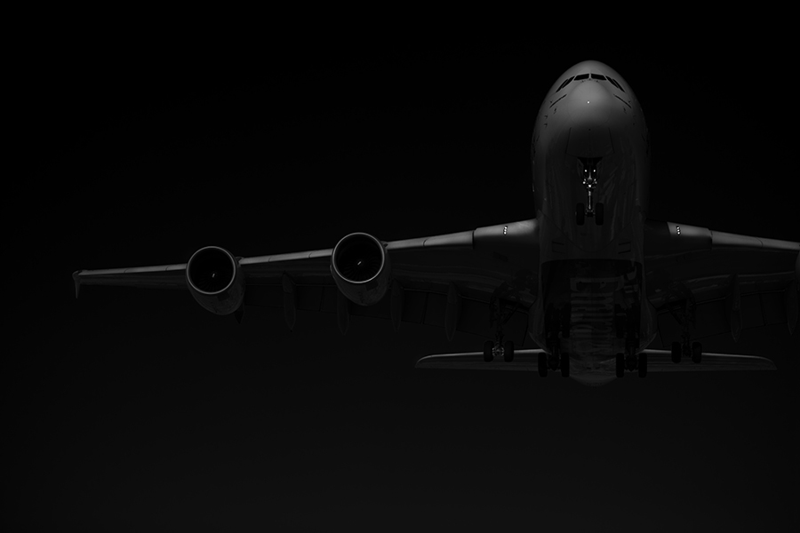 The Laird Co Emirates A380 Black and white wing detail aviation avgeek airplane airline photography for site.jpg