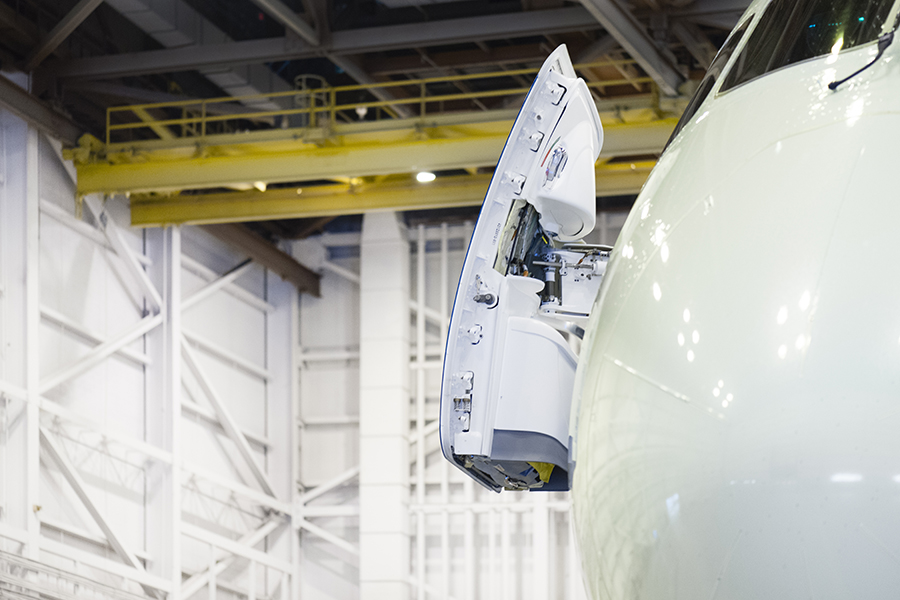 The Laird Co Air Canada B787 door open hangar aviation avgeek airplane airline photography for site.jpg