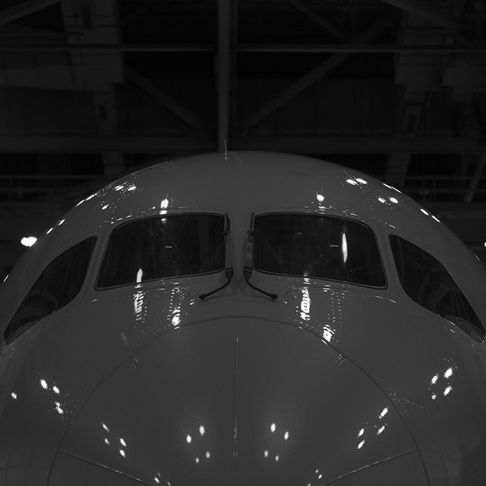 The Larid Co Air Canada b787 nose black and white aviation avgeek airplane airline photography for site.jpg