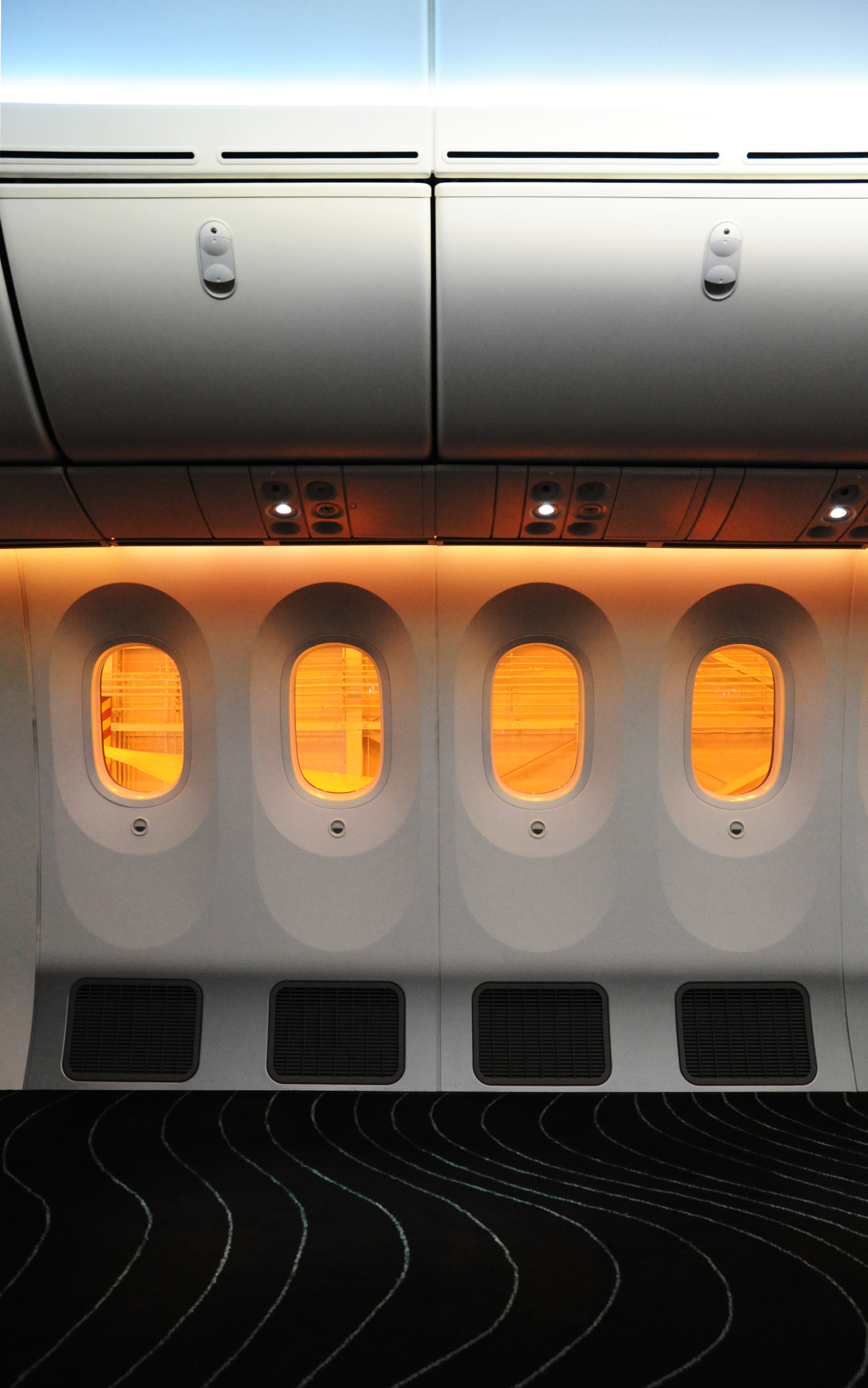 The Laird Co Beoing 787 Interior without seats Aviation Interiors Photography.jpg