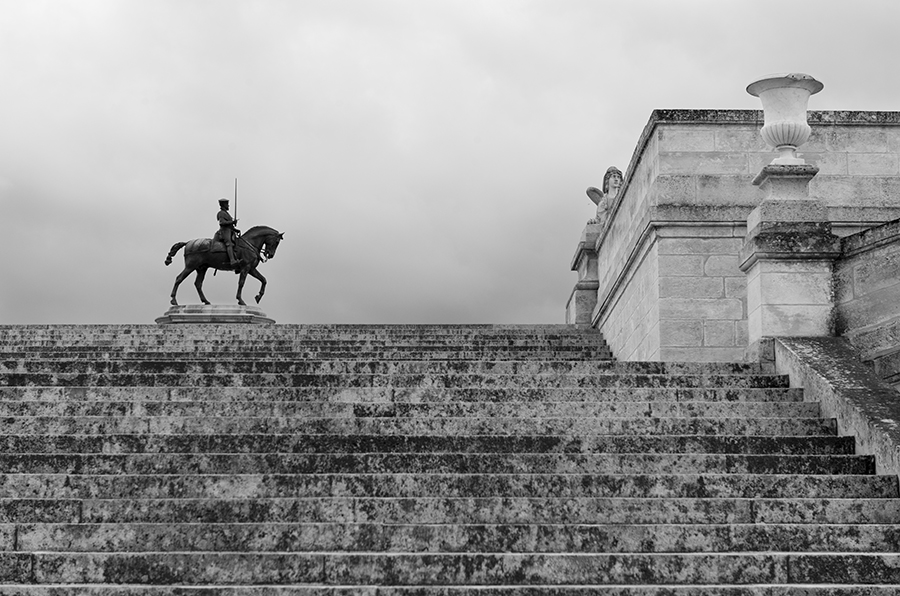 Salon Chantilly Stairs Statue Black and White 20 long x whatever high.jpg