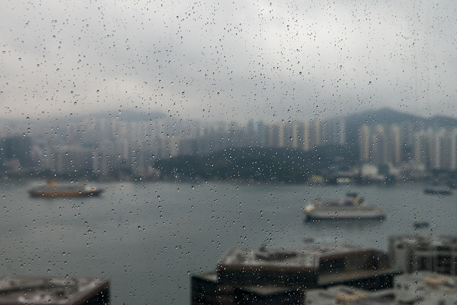 Hong Kong in the Rain No. 4