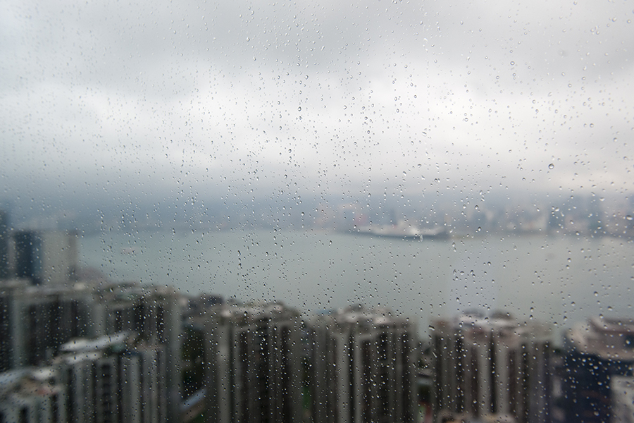 Hong Kong in the Rain No. 5