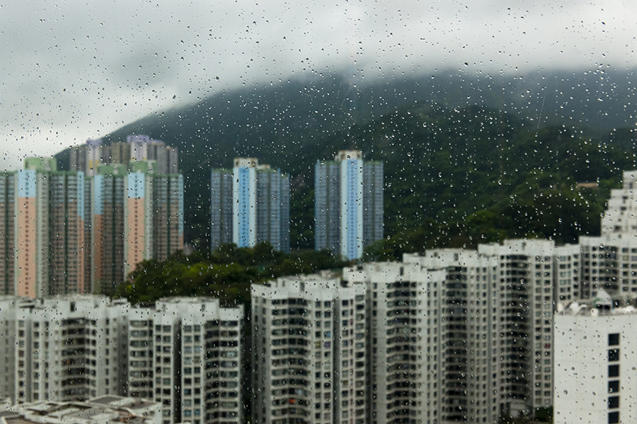 Hong Kong in the Rain No. 6