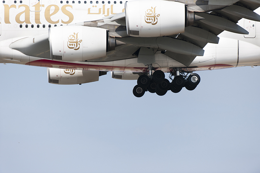 The Laird Co Emirates a380 belly landing gear down side aviation avgeek airplane airline photography for site.jpg