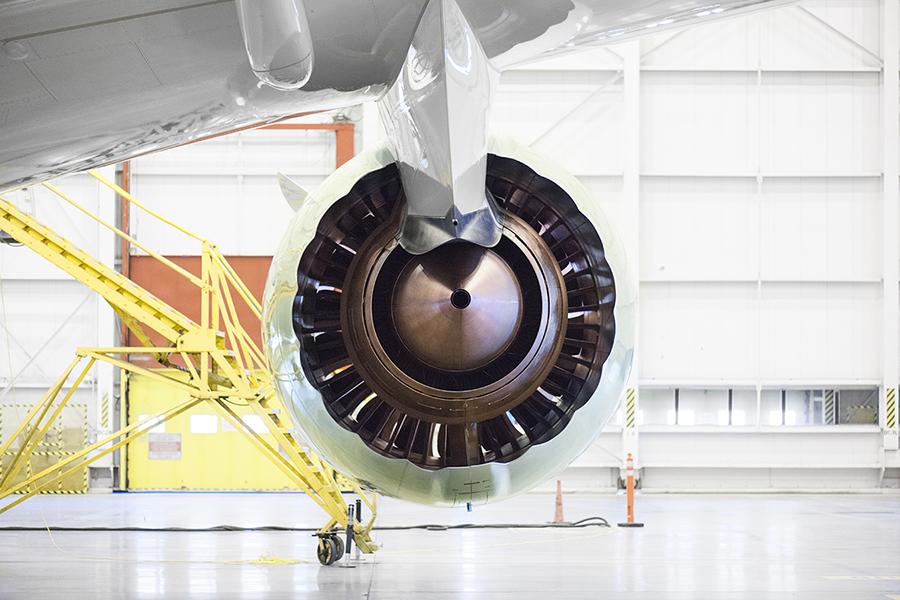 2x 3  Laird Co Air Canada Boeing 787 b787 engine rear view symmetry  hangar aviation avgeek airplane airline photography.jpg