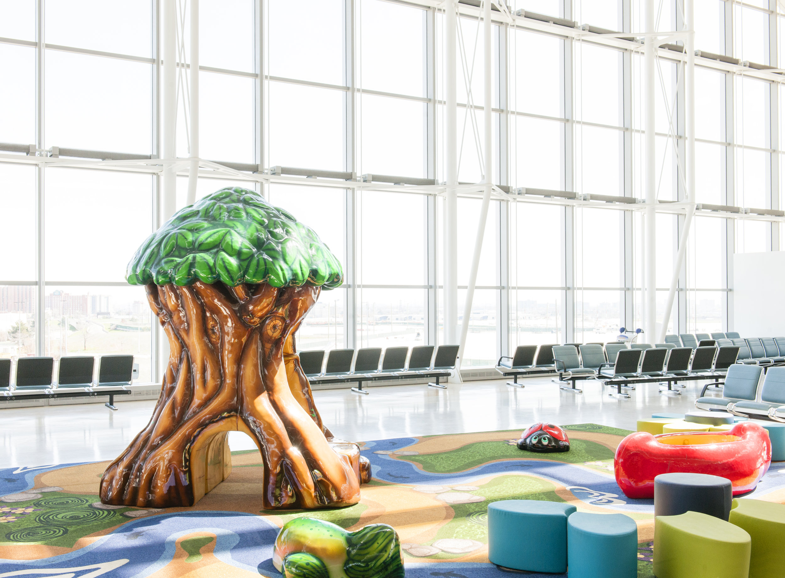 Airport The Laird Co Pearson Airport Childrens Lounge Aviation Avgeek Architecture Interior Design Play Photography.jpg