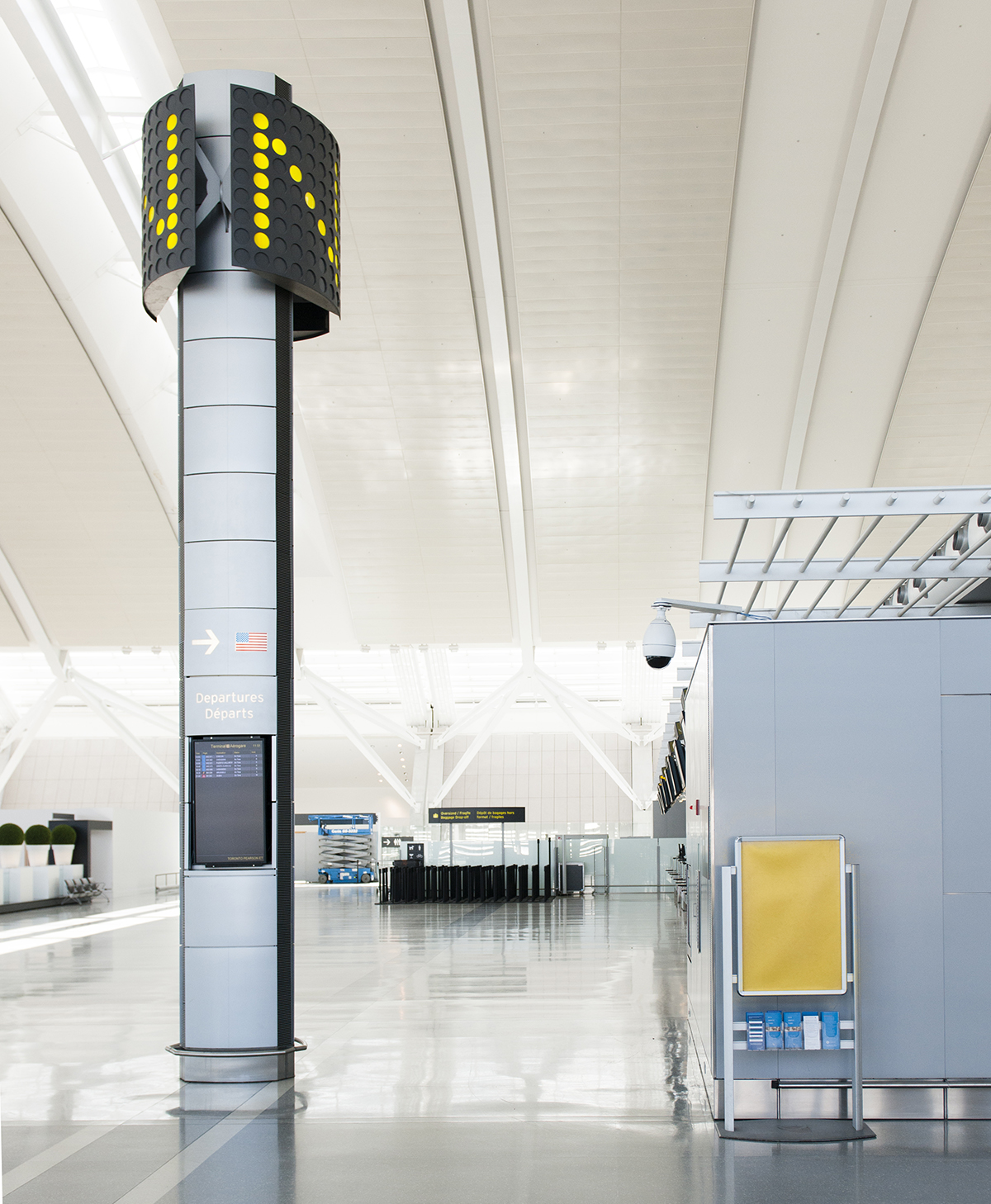 The Laird Co Pearson Airport Gate N Camera SEcurity Yellow Sign Architecture Interior Empty Design Avgeek YYZ Photography for site.jpg