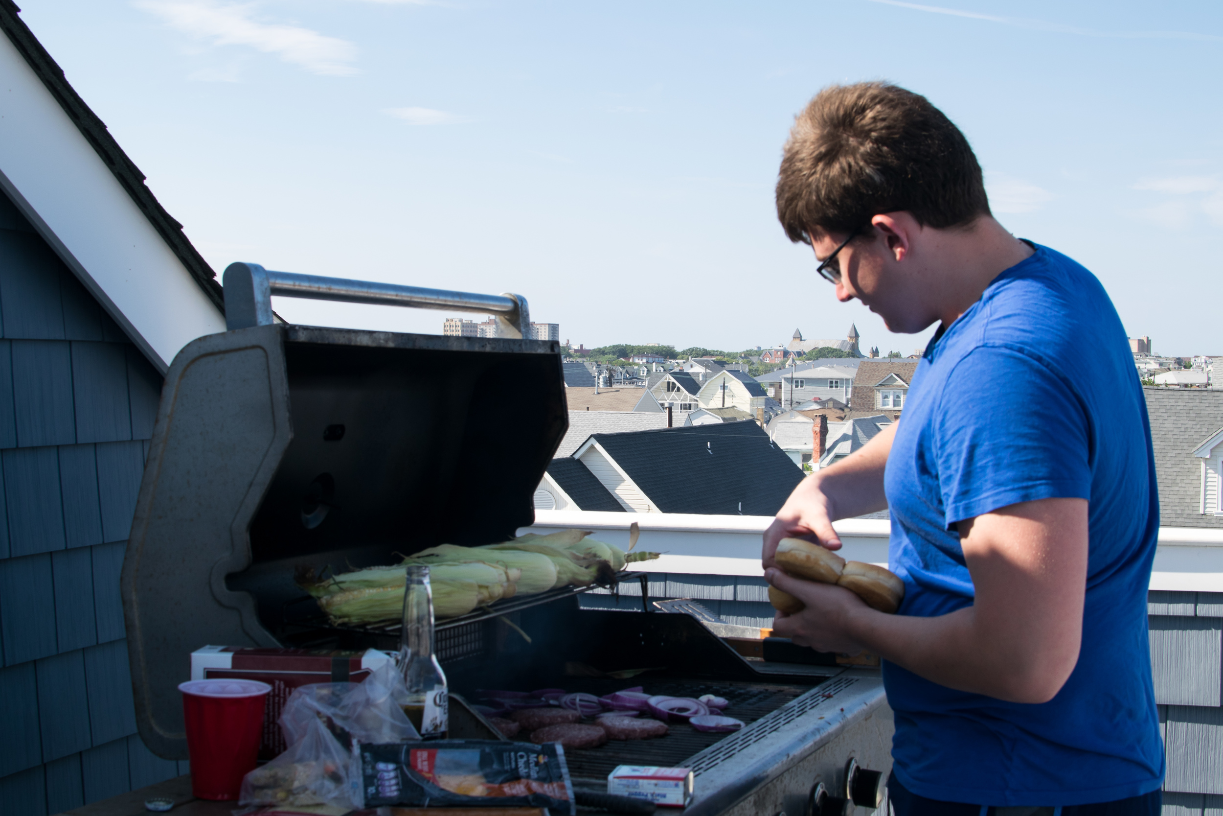 Summer Lab Outing 2015 - Aleks BBQing