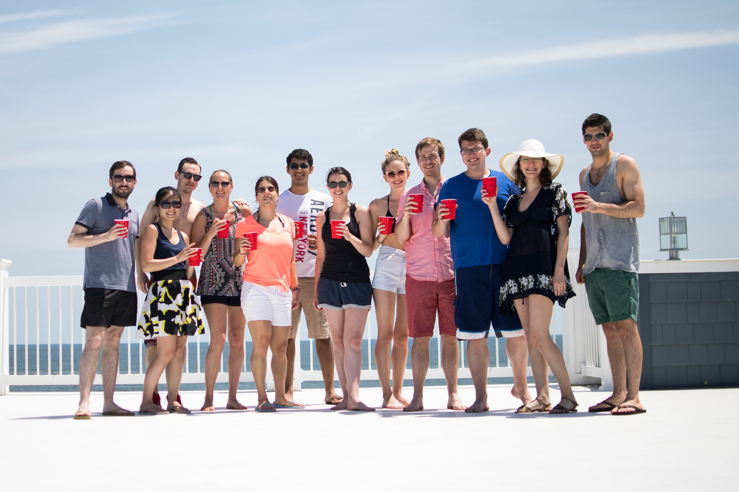 Group Photo Summer Lab Outing to Bradley Beach 2015